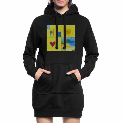 Viererwunsch - Hoodie-Kleid