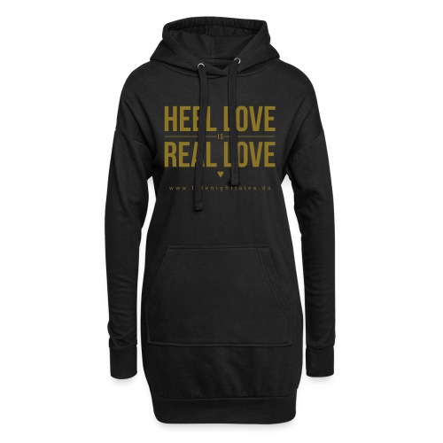 Heel Love is Real Love <3 - GOLD - Hoodie-Kleid