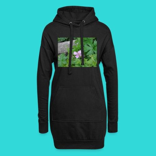 shirt bloem - Hoodiejurk