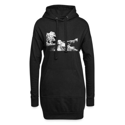 J'aime Mouleydier - Pont F - Sweat-shirt à capuche long Femme