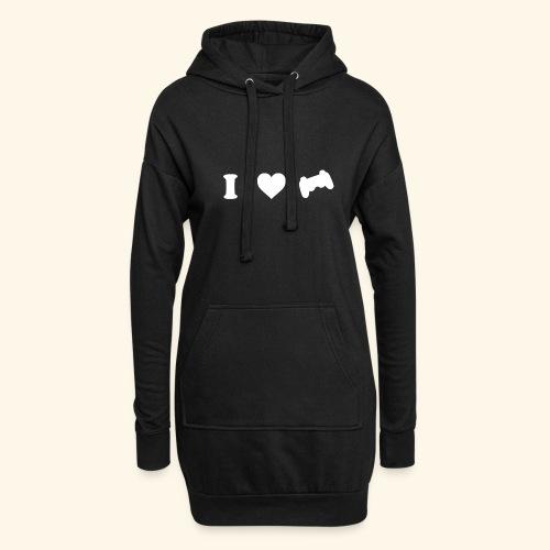 I love videogames - Sudadera vestido con capucha