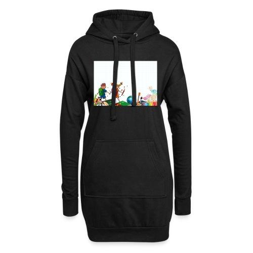 Fröhliche Schulkinder - Hoodie-Kleid