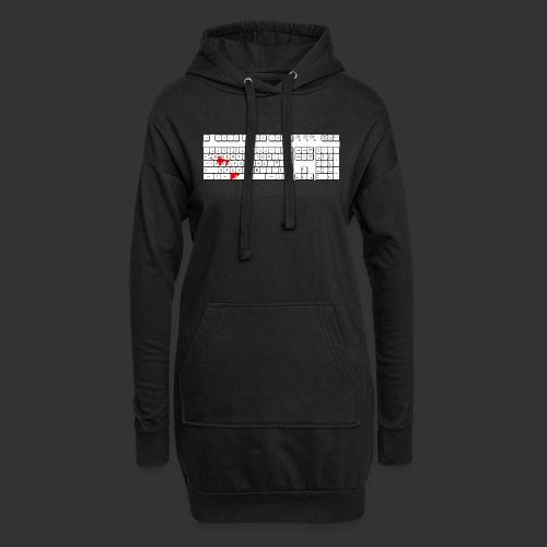 Bluttastatur - Hoodie-Kleid