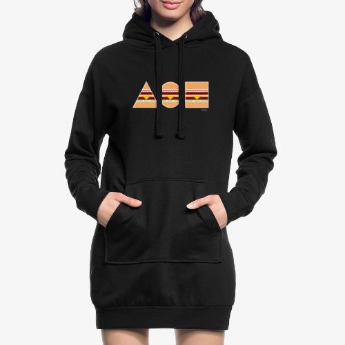 Graphic Burgers - Vestitino con cappuccio