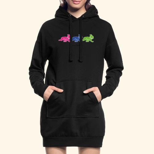 frenchies multicolor - Sweat-shirt à capuche long Femme
