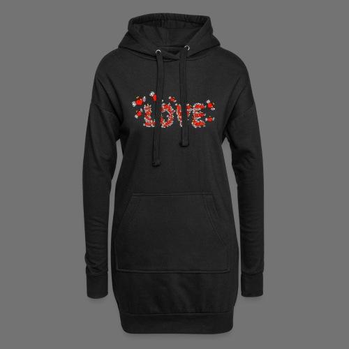 Flying Hearts LOVE - Hoodie Dress