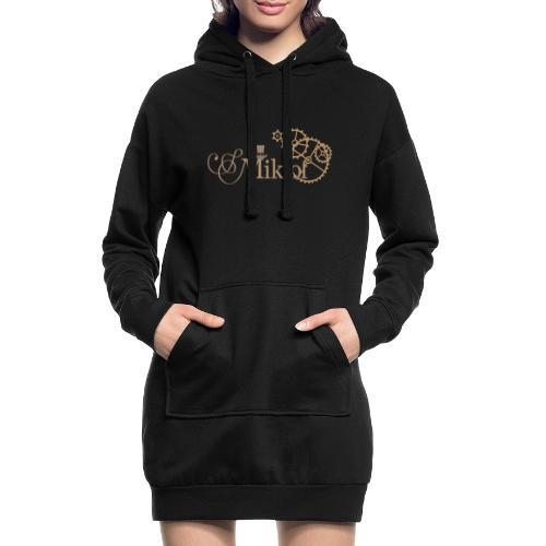 miklof logo gold outlined 3000px - Hoodie Dress