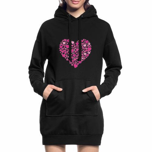 Herz aus Herzal - Hoodie-Kleid