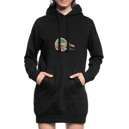 Baum und fliege in einer Glühbirne Geschenkidee - Hoodie-Kleid