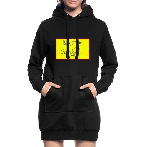 hello, I am the sound girl - yellow sign - Hoodie Dress
