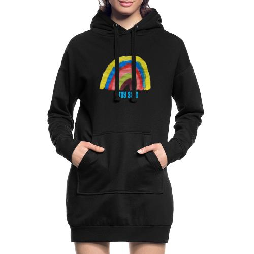 Stay Safe Rainbow Tshirt - Hoodie Dress