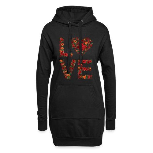 Die wichtigste Botschaft für unsere Welt: LOVE - Hoodie-Kleid