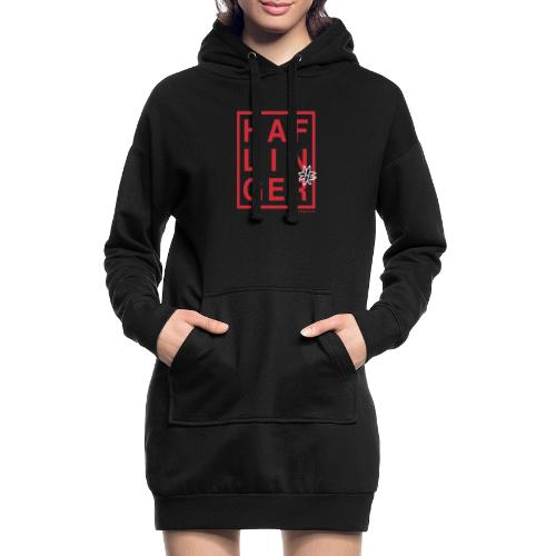 Haflinger Schriftzug / Pferd - Hoodie-Kleid