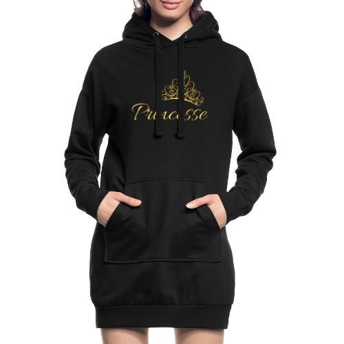 Princesse Or - by T-shirt chic et choc - Sweat-shirt à capuche long Femme