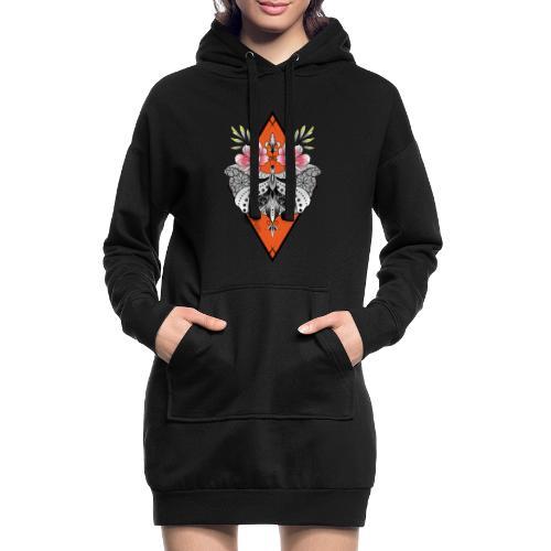 butterfly - Sweat-shirt à capuche long Femme