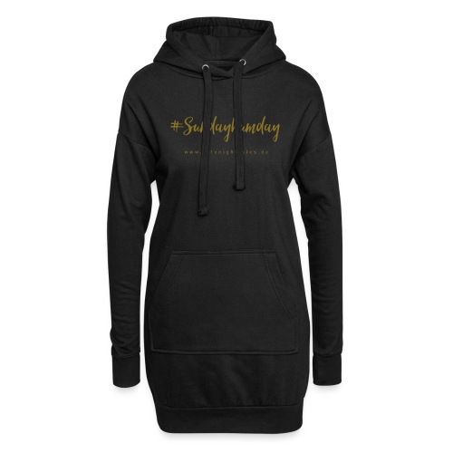 #Sundaybumday - GOLD - Hoodie-Kleid