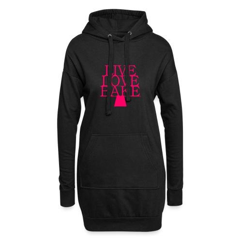 LiveLoveBake ekstra stor - Hoodie-kjole