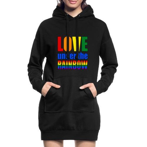 Love under the rainbow - Hoodie Dress