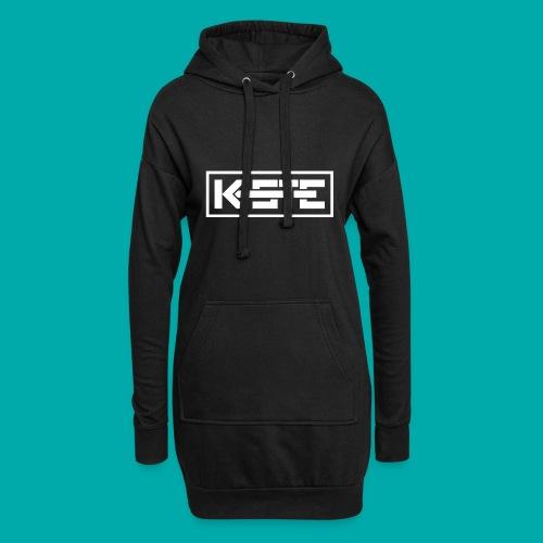 K-STE Logo weiß - Hoodie-Kleid