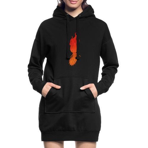 Red nymph - Hoodie-kjole