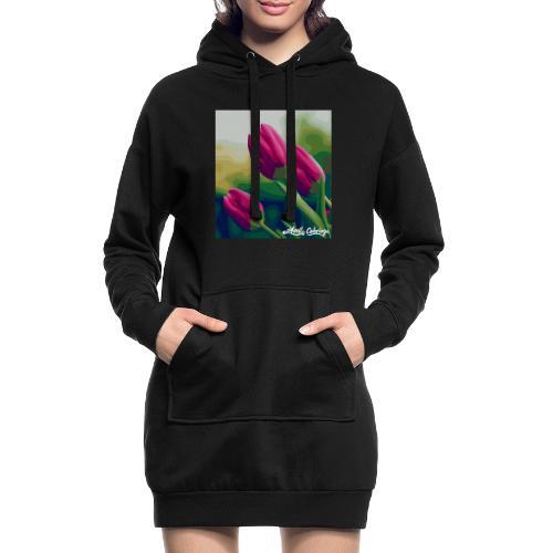 Blomster - Hoodie-kjole