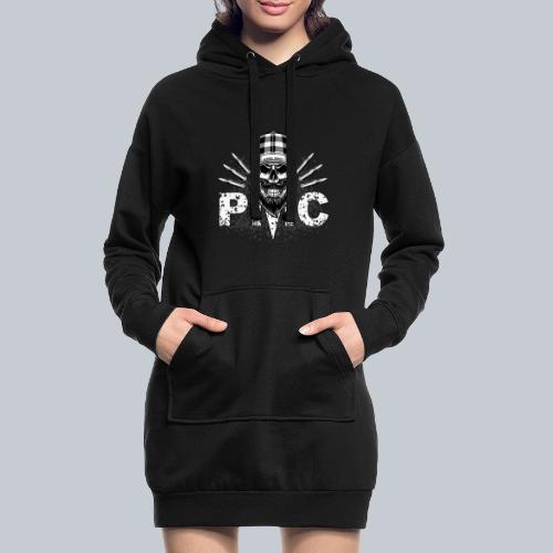 PMC Skull white - Hoodie-Kleid
