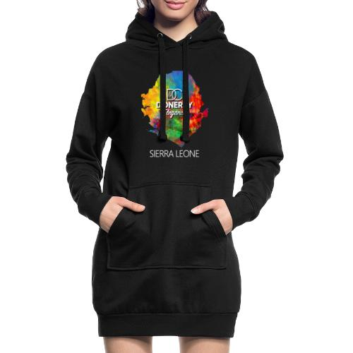 Sierra Leone Colourful Map Dark - Hoodie Dress