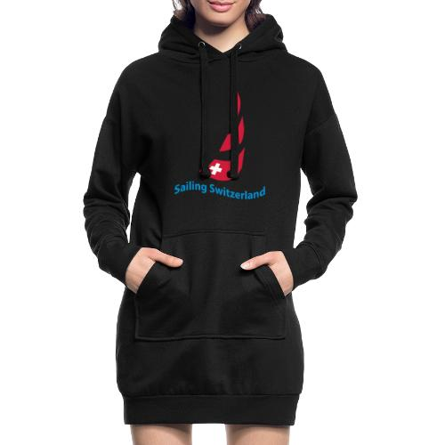 logo sailing switzerland - Hoodie-Kleid