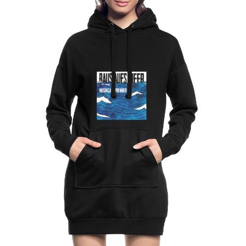 Raus aufs Meer quadratisch - Hoodie-Kleid