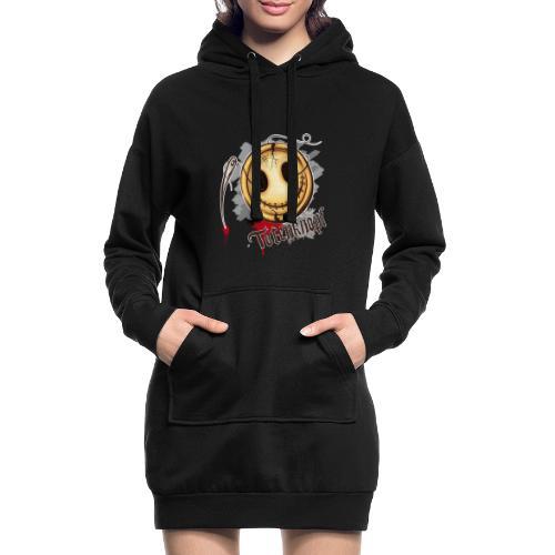 Totenknopf - Hoodie-Kleid