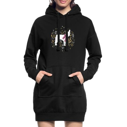 French Bulldog Winter - Hoodie-Kleid