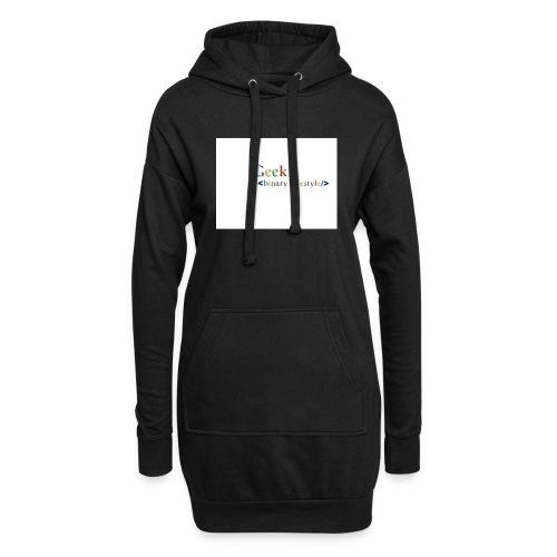 geek_life_style_google_font - Sudadera vestido con capucha