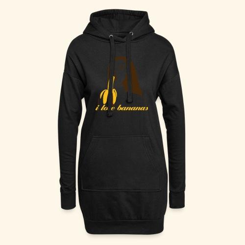 i love bananas - Hoodie-Kleid