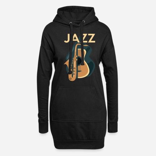Jazz Gitarre mit Saxophon - Hoodie-Kleid