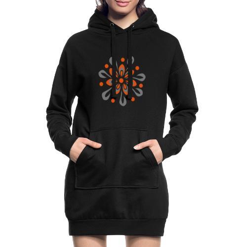 flowerpower - Hoodie-Kleid