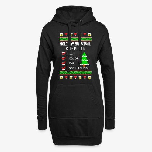 Alkohol Checklist Ugly Christmas - Hoodie-Kleid
