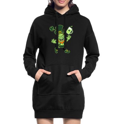 Euphoric Leprechaun Celebrating St Patrick's Day - Hoodie Dress