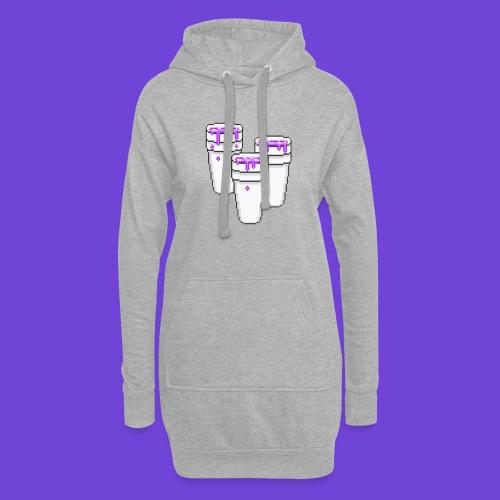 Purple - Vestitino con cappuccio