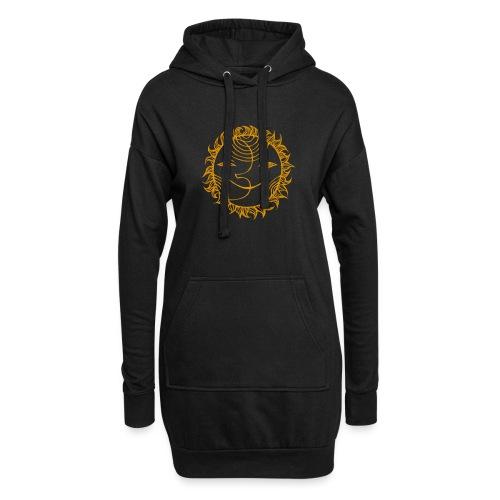 Golden Sunmoon Rising - Hoodie Dress