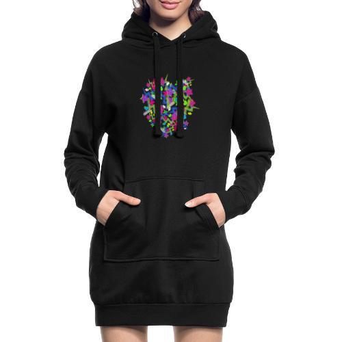 Pattern Neonsterne - Hoodie-Kleid