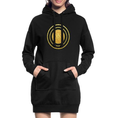 Glückssymbol Sonne - positive Schwingung - Spirale - Hoodie-Kleid