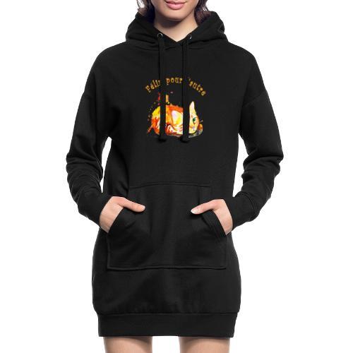 Chat roux,Félin pour l'autre - Sweat-shirt à capuche long Femme