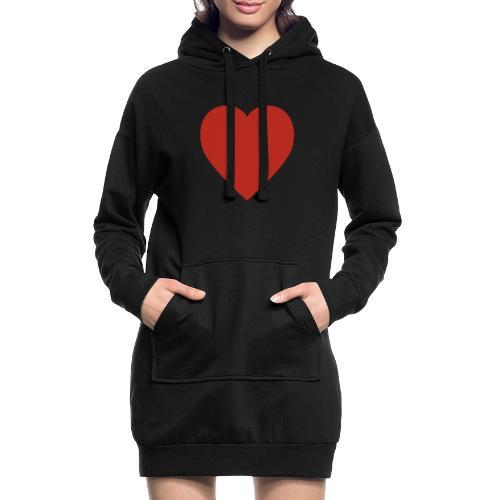 Herz Liebe - Hoodie-Kleid