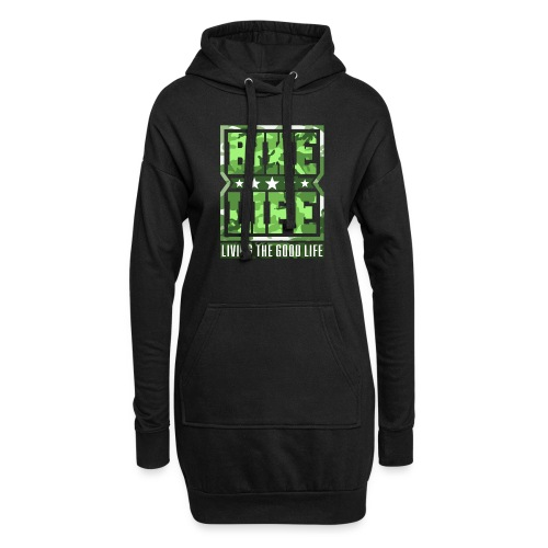 Bikelife Green Camo - Hoodie Dress