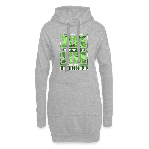 Bikelife Green Camo - Hoodie Dress