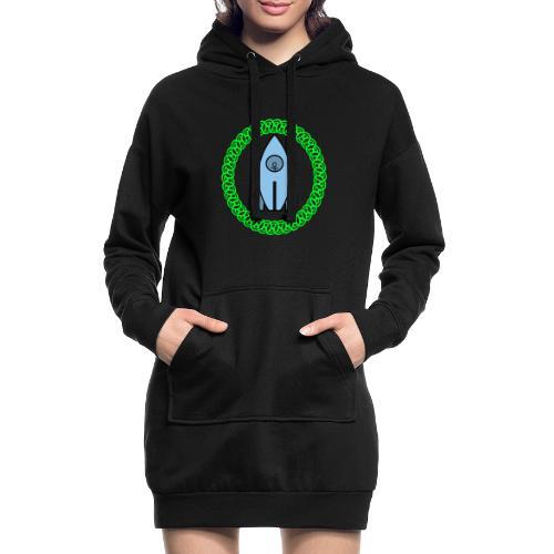 Raumschiff auf dem Weg ins Weltall - Hoodie-Kleid
