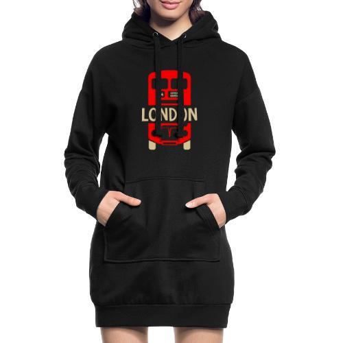 London Bus Roter Doppeldecker London Fan Souvenir - Hoodie-Kleid