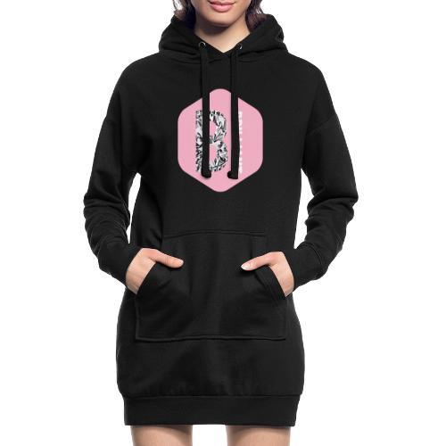 B brilliant pink - Hoodiejurk