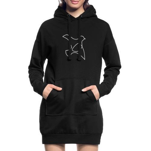 oP-Friedenstaube minimalistisch weiss - Hoodie-Kleid