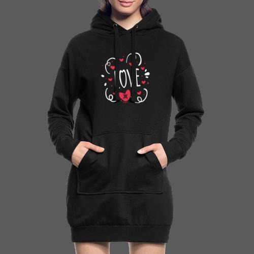 Love - Sudadera vestido con capucha